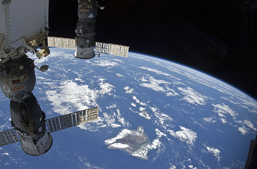 Photo by NASA. Hawaii is captured below.