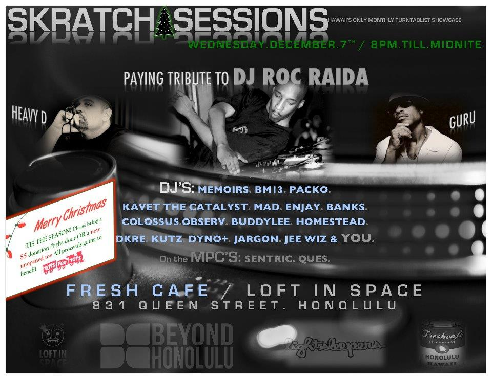 Skratch Sessions December Edition to Benefit the Keiki
