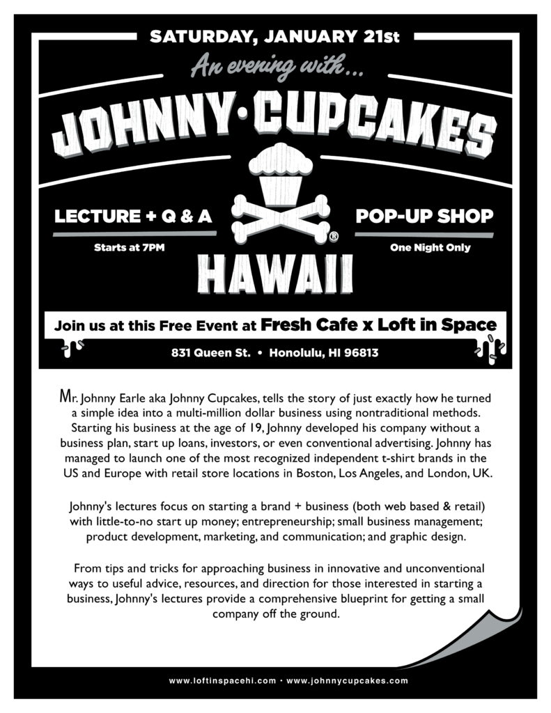 Johnny Cupcakes in Hawaii