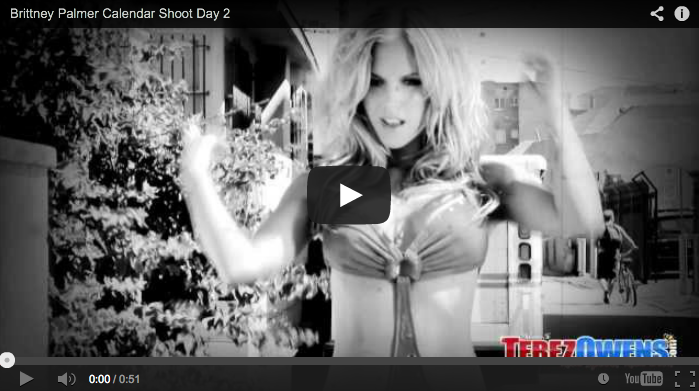 Brittney Palmer Swimsuit Calendar Shoot Video
