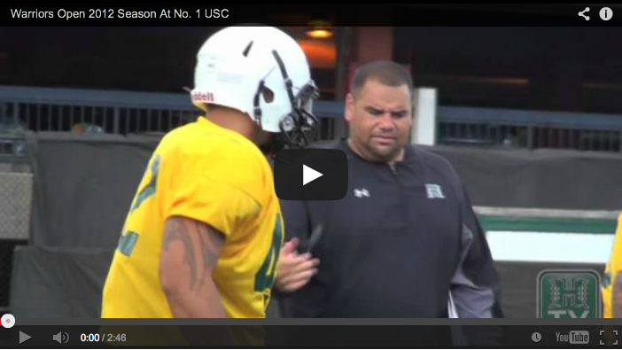 VIDEO: Hawaii Opening with USC in Football