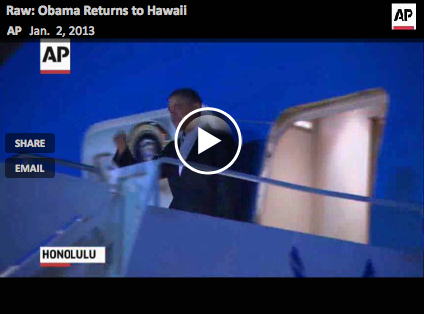President Obama Returns to Hawaii