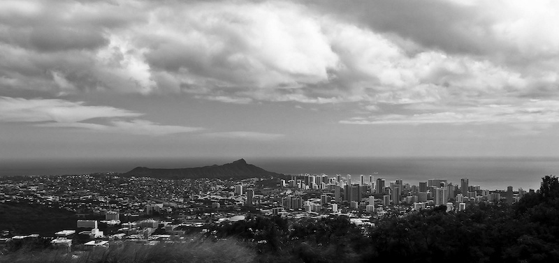 Honolulu Black and White