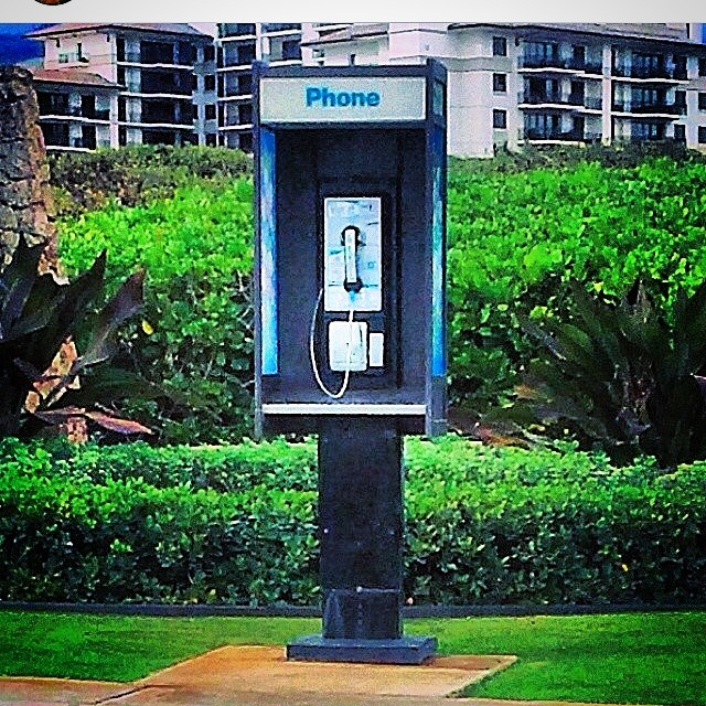 Only in Hawaii. What is this? #outofdate #dinosaur #payphone #gobeyond #onlyinhawaii