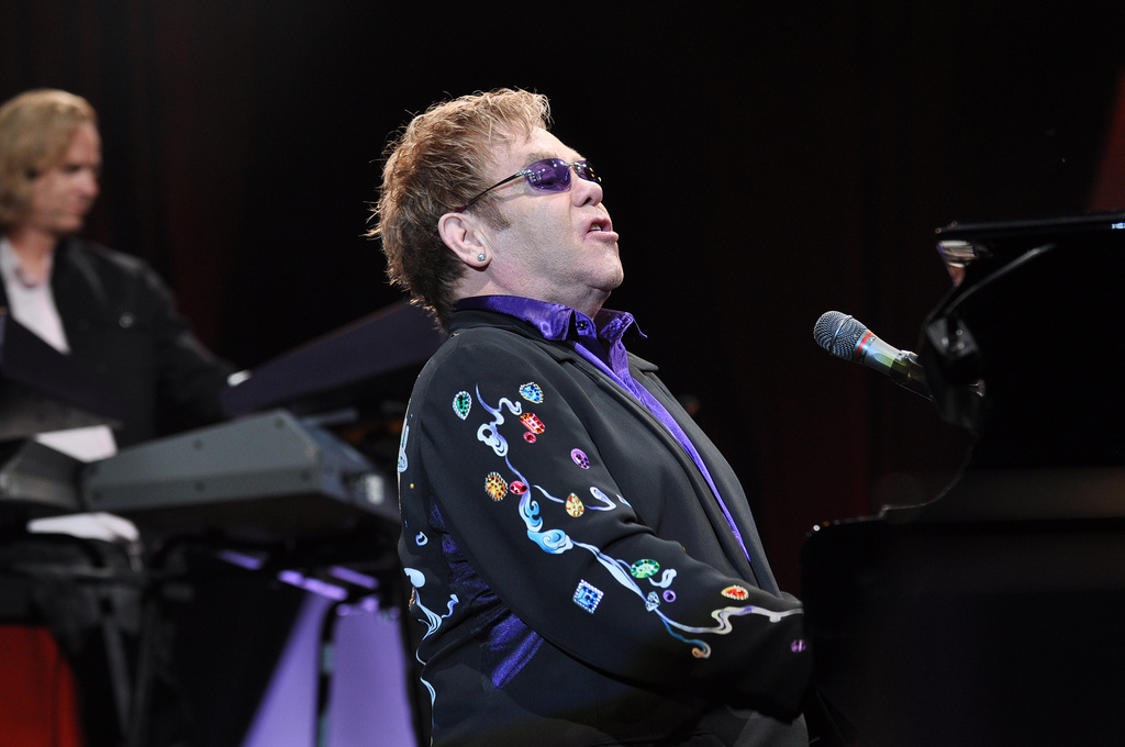 Elton John in Hawaii for One Show