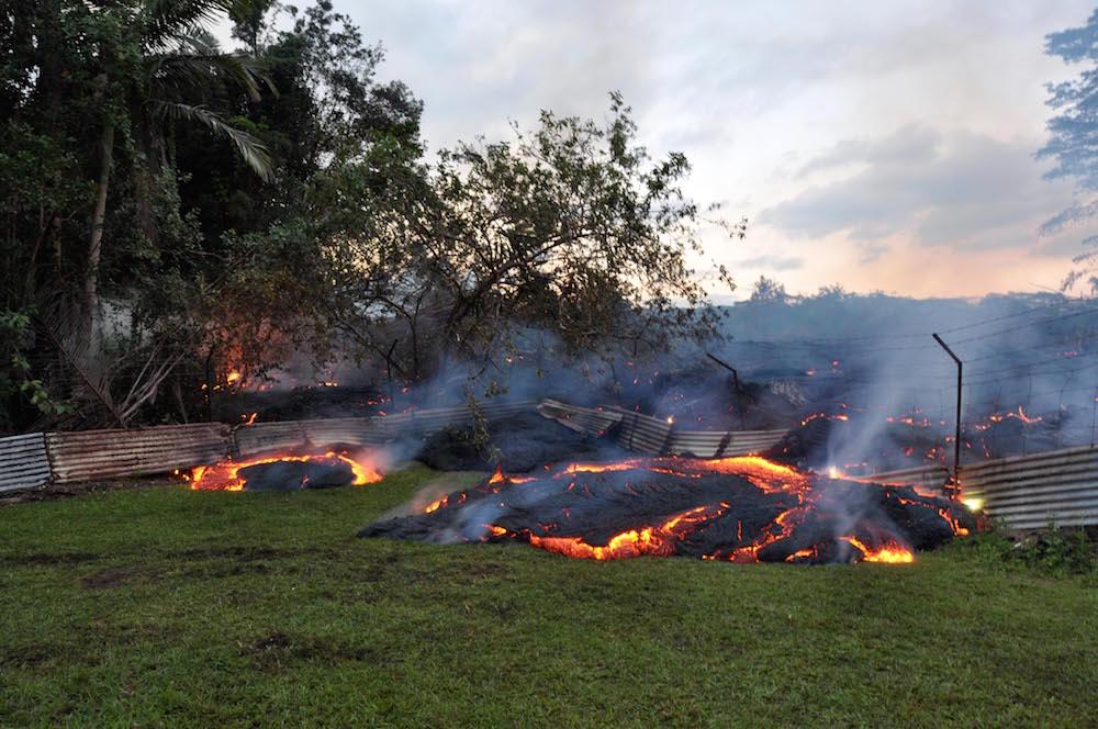 Kilauea Lava Flow Hits Pahoa