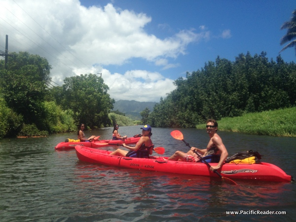 Kayaking Hanalei River