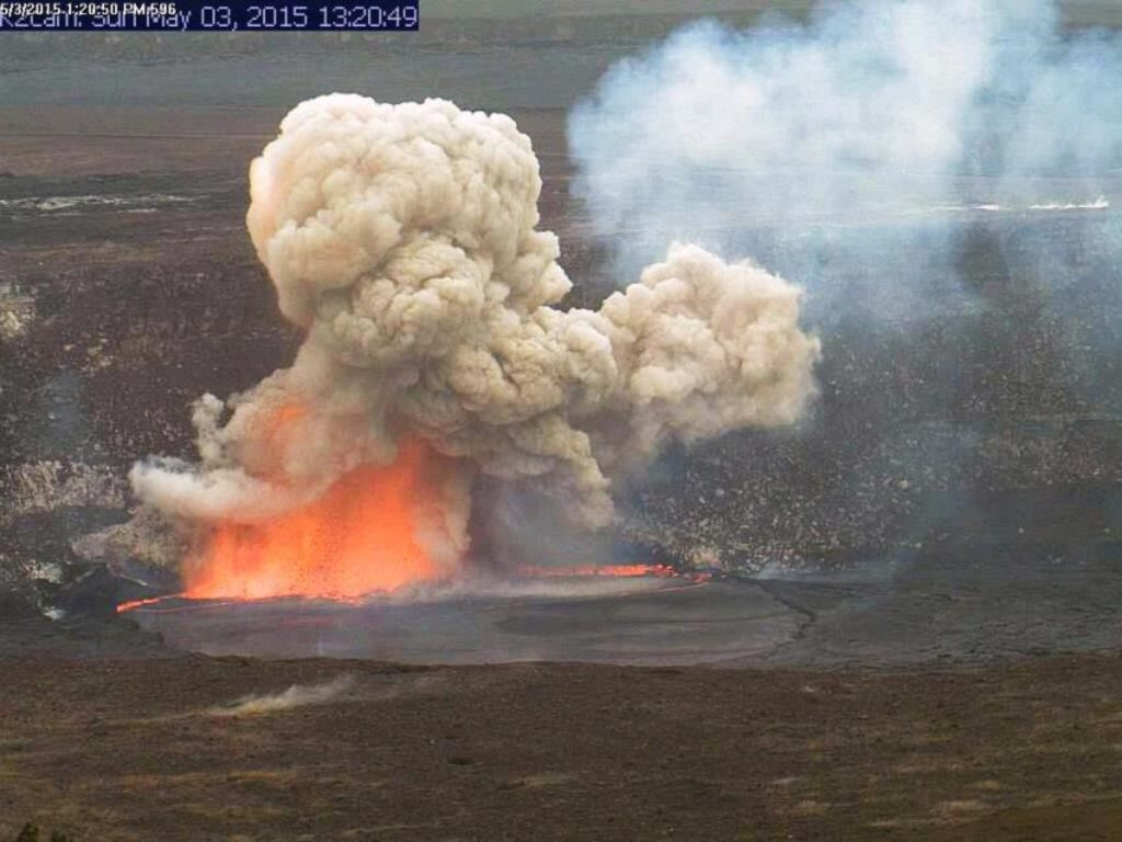 Watch Lava Lake Explode Inside Crater of Hawaii Volcano