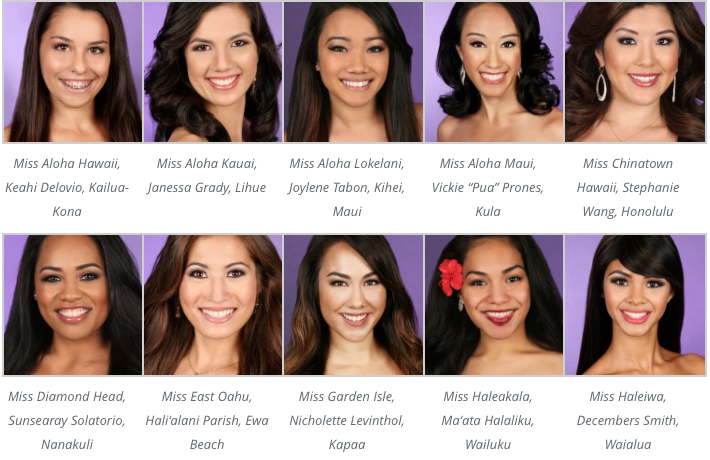 Miss Hawaii Contestants