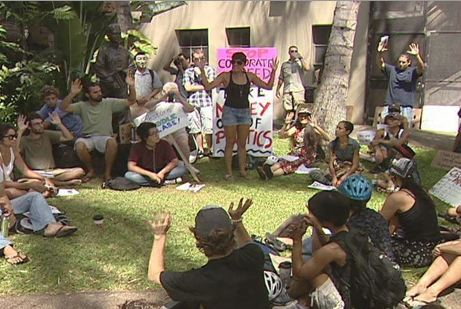 Occupy Honolulu Protestors Forced to Remove Tents