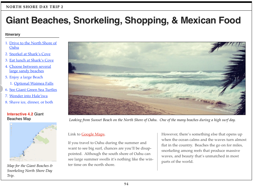 Oahu Day Trip Guidebook for iPad Now Available
