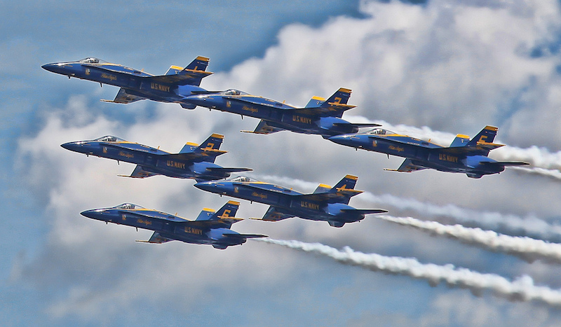 Blue Angels Flying. Photo Credit: Jeffrey Kurtz on Flickr