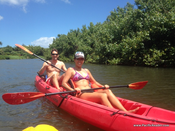 Kayaking the Hanalei River on Kauai